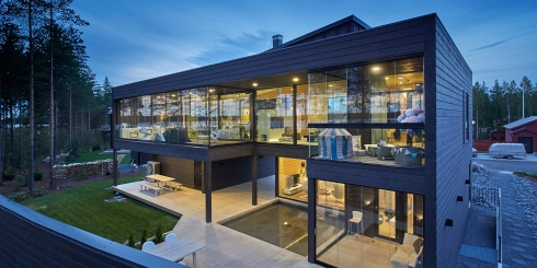 Setzungsfreie Blockhauskonstruktion